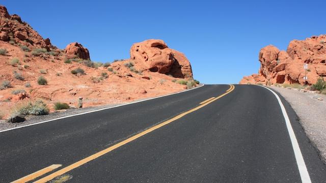 Bild einer Straße im Valley of Fire