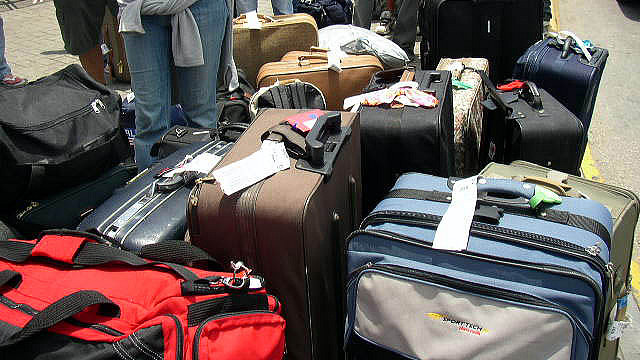Viele Koffer und Taschen
