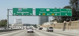 Eine Autobahn in Kalifornien