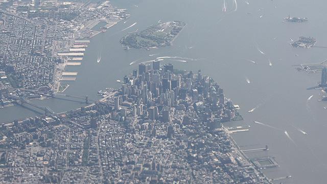 New York aus der Luft Bild