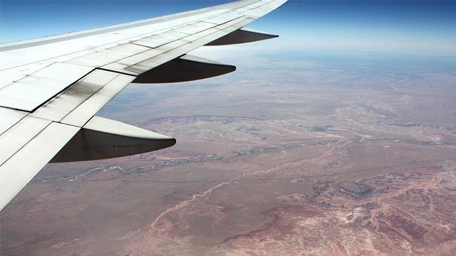 Flugzeug über USA
