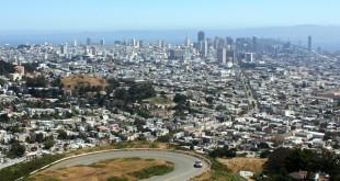 Blick von Twin Peaks auf San Francisco