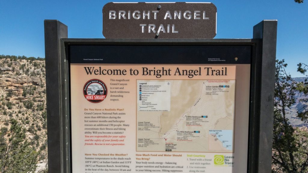 Bright Angel Trail am South Rim.