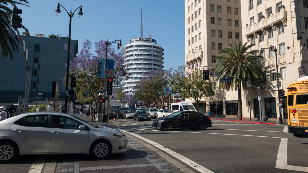 Capitol Records Building in Los Angeles.