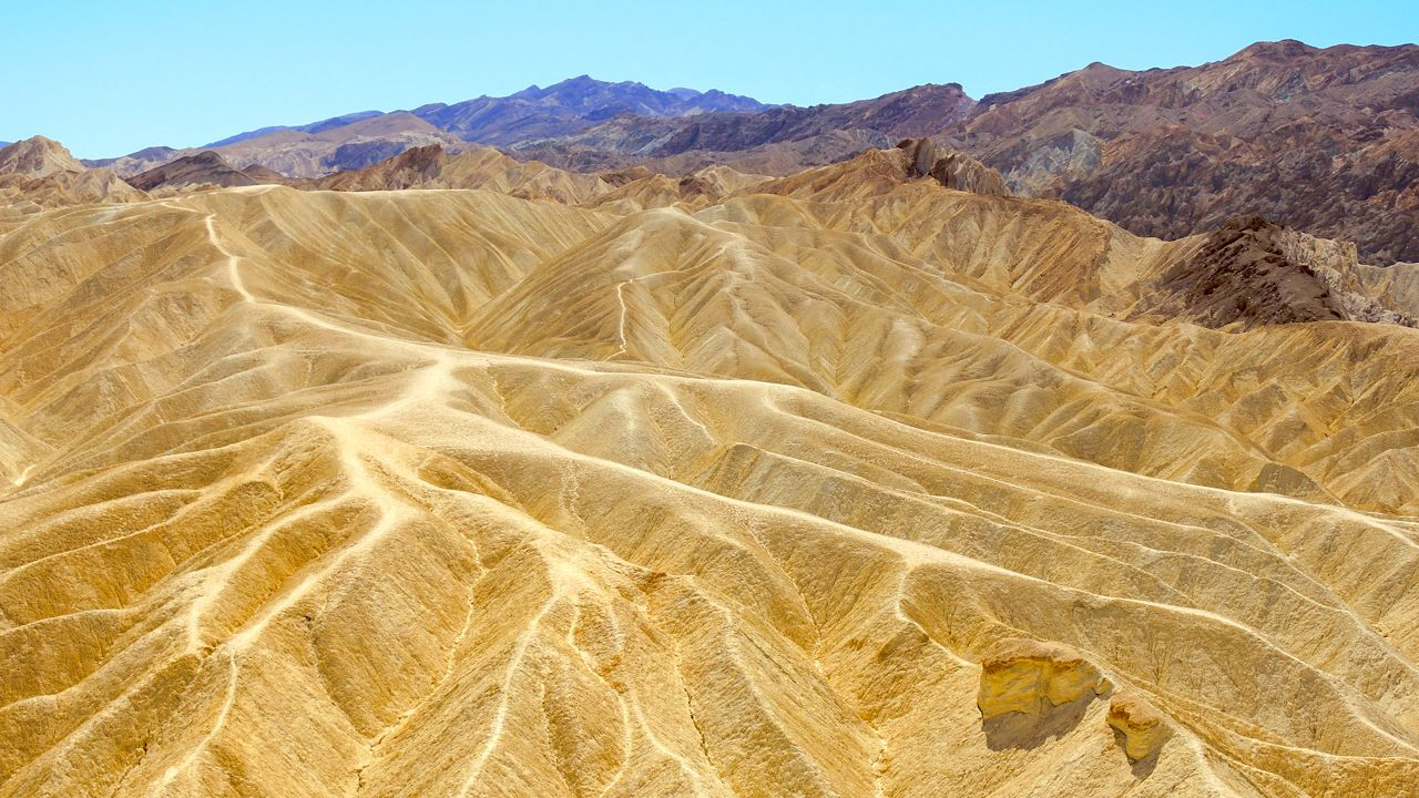 Death Valley: Ausblick am Zabriskie Point