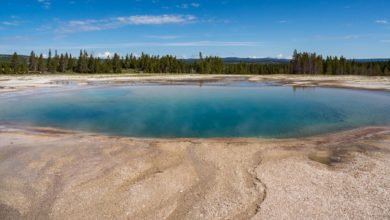 Nahe Grand Prismatic Spring in Yellowstone.