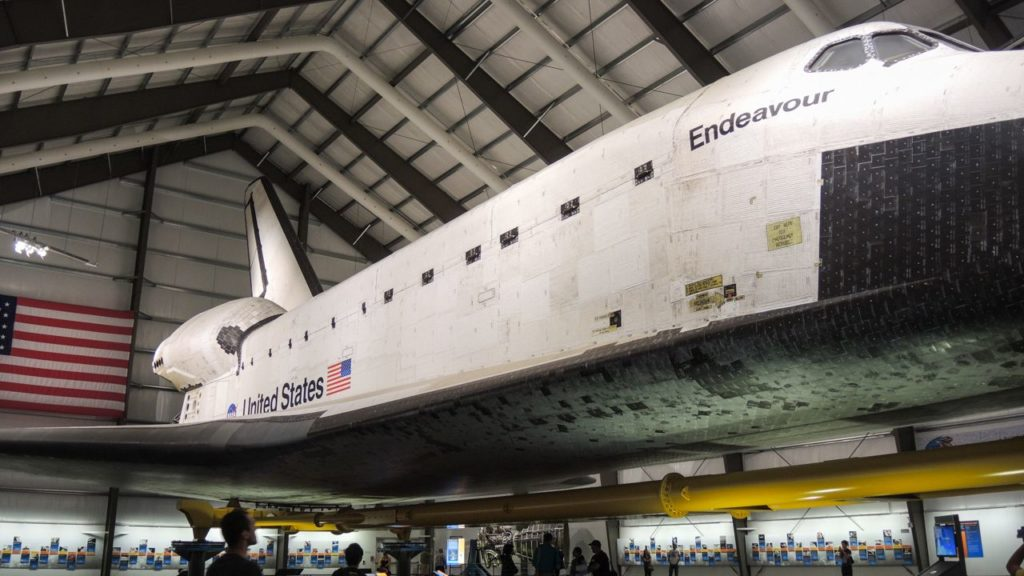 Space Shuttle Endeavour im California Science Center