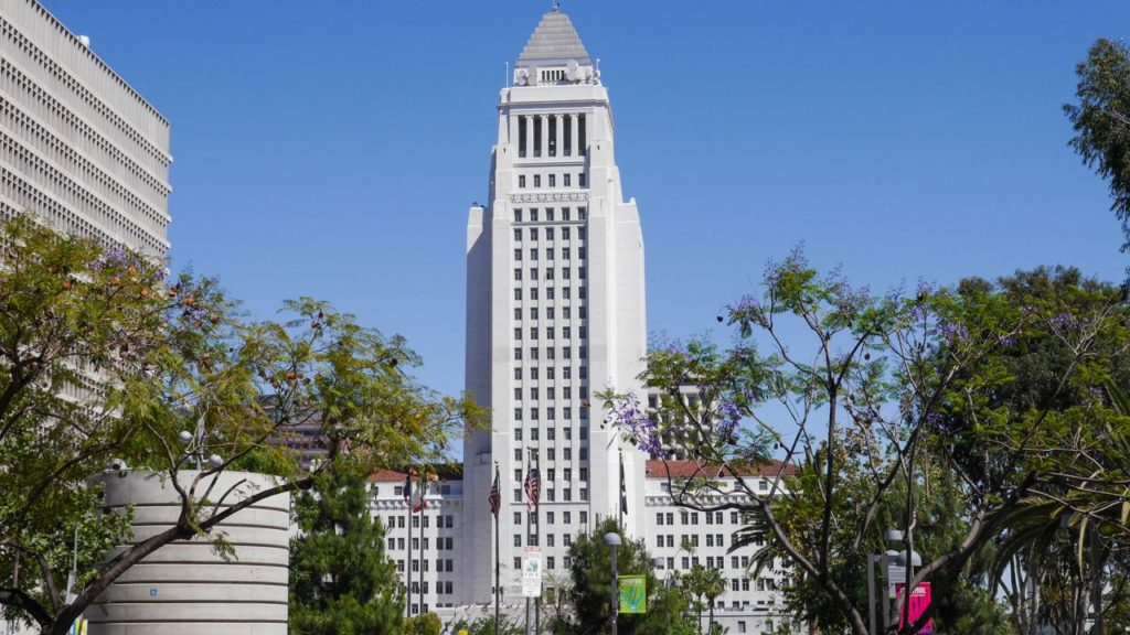 City Hall in Los Angeles Downtown