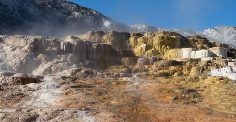 Mammoth Hot Springs in Yellowstone.