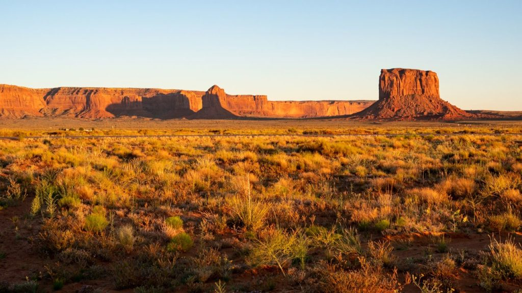 Sonnenuntergang im Monument Valley.