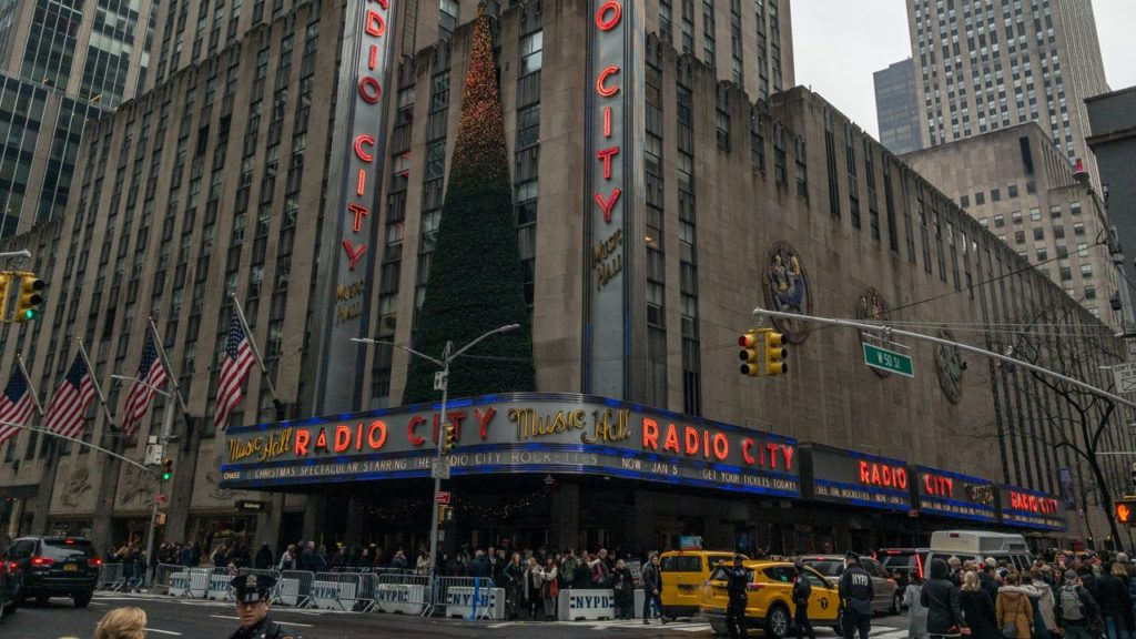 Radio City Music Hall am Rockefeller.