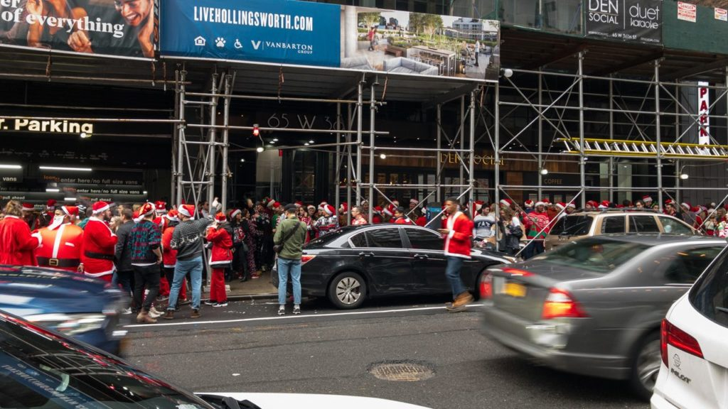 SantaCon in New York.