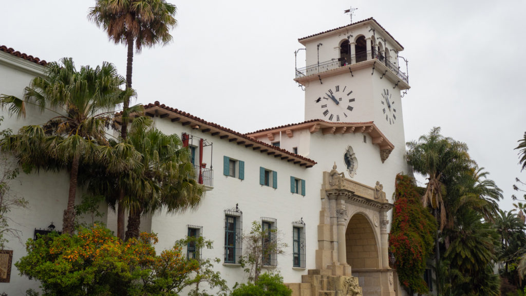 Courthouse Building in Santa Barbara.