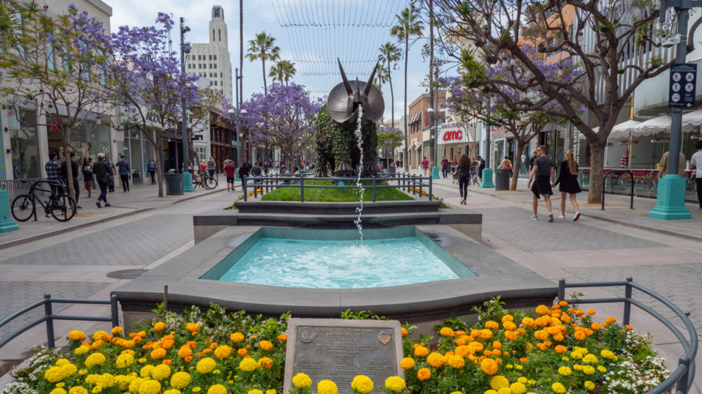 Third Street Promenade in Santa Monica.