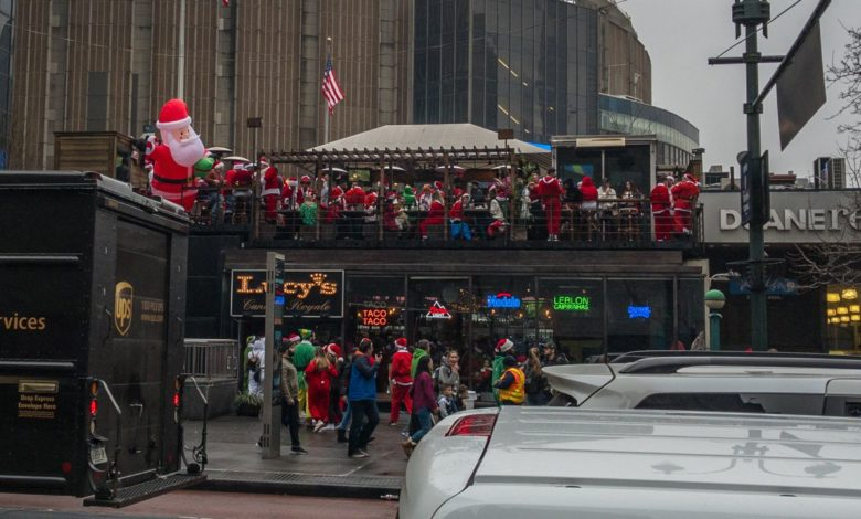SantaCon in New York 2019.