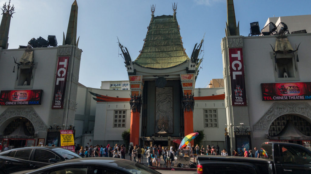 TCL Chinese Theatre am Walk of Fame.