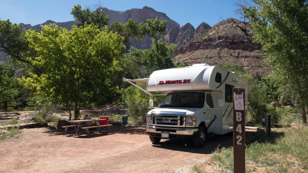 Auf dem Watchman Campground in Zion.